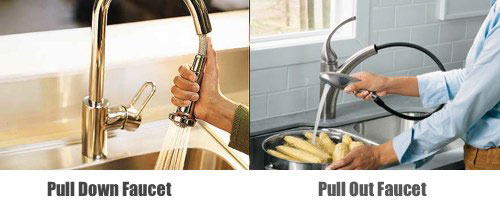 Pull out and Pull down Faucets