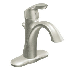 Moen 6400BN Eva One-Handle High Arc Bathroom Faucet, Brushed Nickel