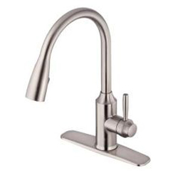 New - Glacier Bay Invee 8 Inch Pull Down Kitchen Faucet