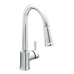 New -Moen 7175 Level One-Handle High Arc Pullout Kitchen Faucet