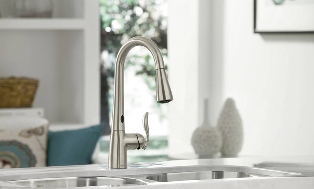 wand with handle banbury kitchen matching chrome en in p single moen pullout home faucet