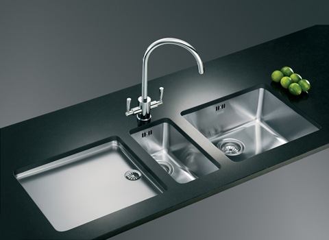 Black Double Undermount Kitchen Sink