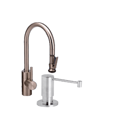 New - Waterstone 5800-2-SS Standard Reach PLP Pull Down Faucet, Solid Stainless Steel
