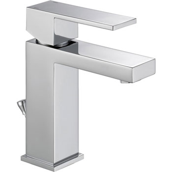 Angular Modern Single Handle Lavatory Faucet