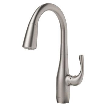 KRAUS KPF-1670SFS Esina Single Handle Pull Down Kitchen Faucet