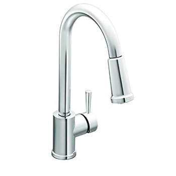Moen 7175 Level One-Handle High Arc Pullout Kitchen Faucet