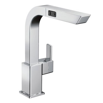 Moen S7597CSL 90-Degree One-Handle High Arc Pullout Kitchen Faucet
